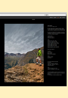 Example of a biography Page of Photography website.